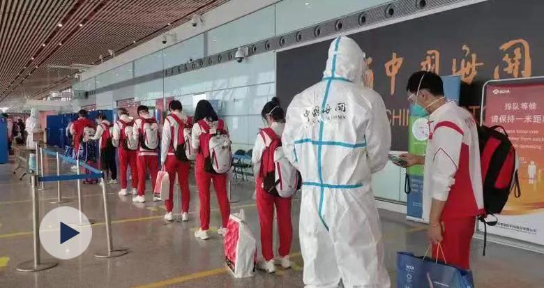 东京奥运会中国体育代表团最后一批成员回国