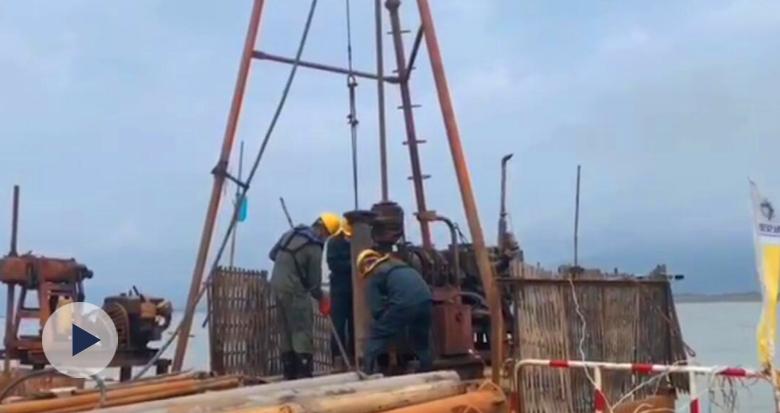 六横公路大桥工程新进展:海上勘察全部完工