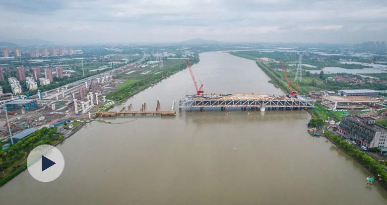 西洪大桥工程建设进度如何?最新航拍视频来了!