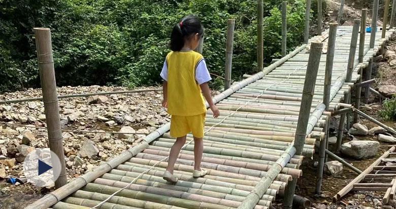 余姚三溪村的这座小竹桥火了!背后的故事有点暖