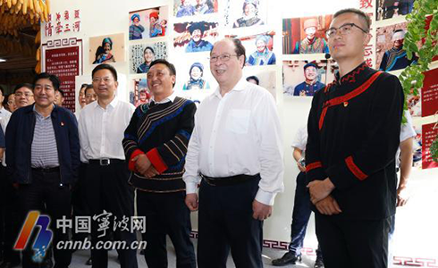 彭佳学裘东耀率宁波市党政代表团在凉山学习考察