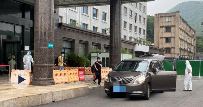 """4名""""弘进""""轮船员解除隔离 专车送至宁波再各自回乡"""