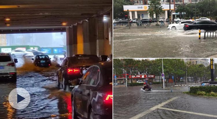 宁波市区部分低洼地段积水 下穿立交和涵洞仍可正常通行