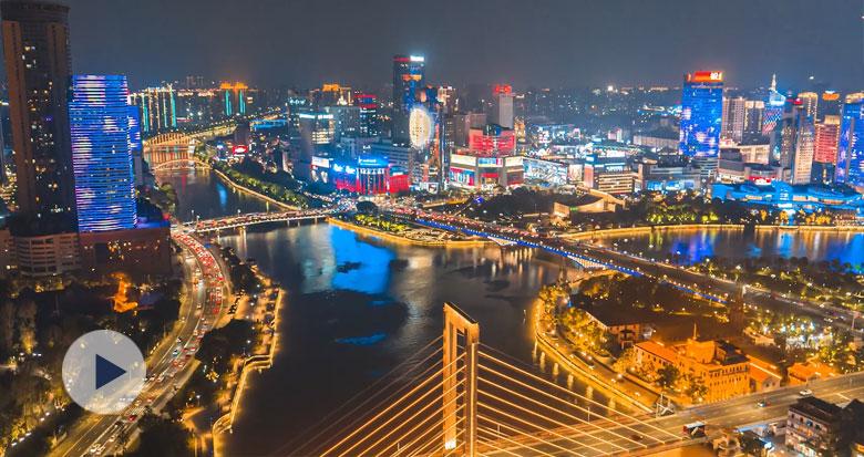 宁波三江口中秋主题灯光秀刷屏!50秒高清航拍视频来了