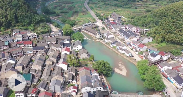 空中看中村 这个在宁波的中国传统古村落你去过吗?