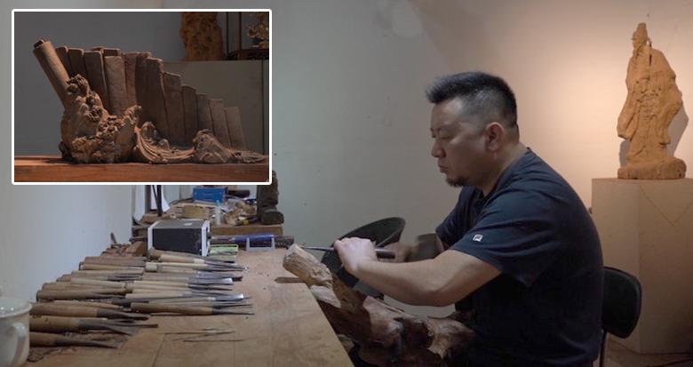 这位木雕大师想为宁波创作一件巨幅作品