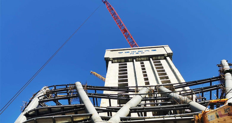 5天长高一层!宁波在建第一高楼抢抓工期进度