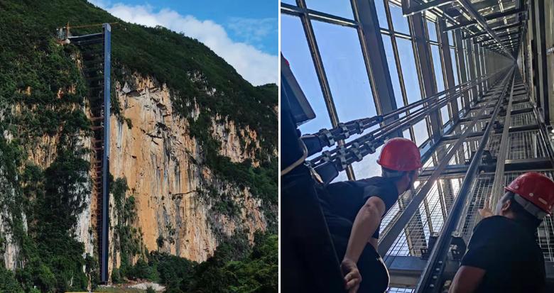 高268米!鄞企建成亚洲第一高度单体户外观景电梯